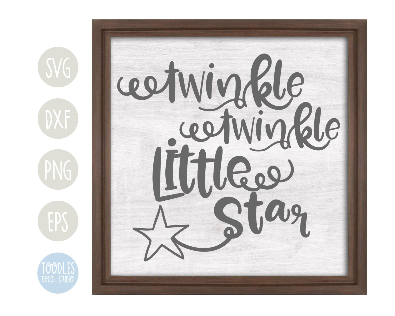Twinkle Twinkle Little Star Svg Vinyl Wall Art Quote Baby Etsy