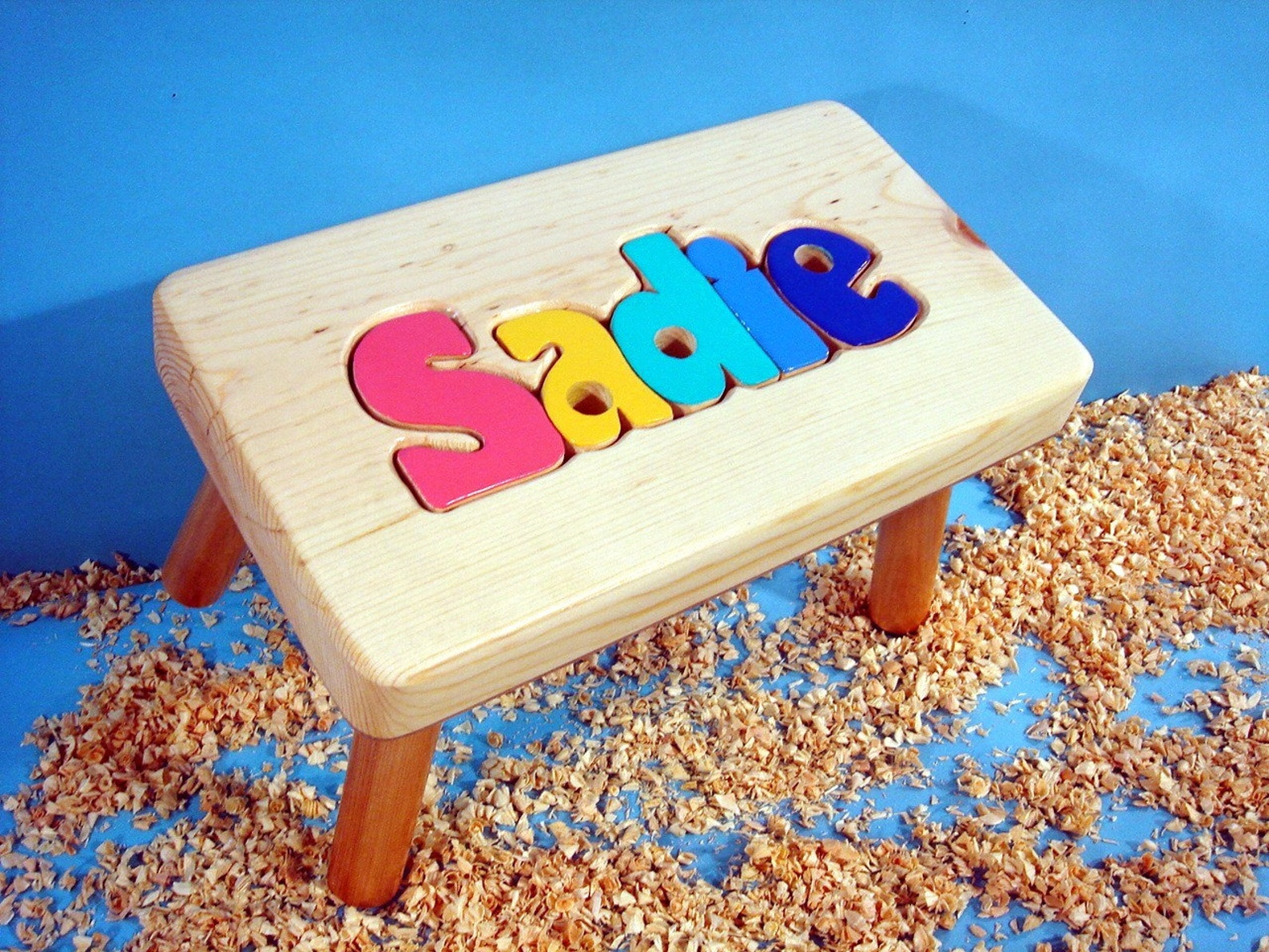 Shop Personalized Wooden Puzzle Step Stool | Etsy from Etsy on Openhaus