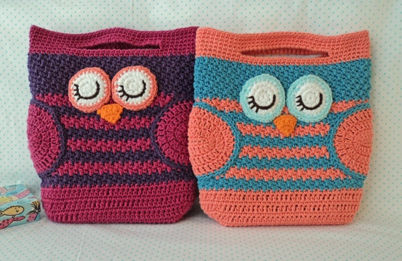 mini owl bag crochet pattern instant download etsy