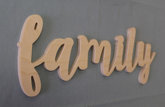 Family Sign for Home Decor Farmhouse Wall Decor made of Wood | Etsy