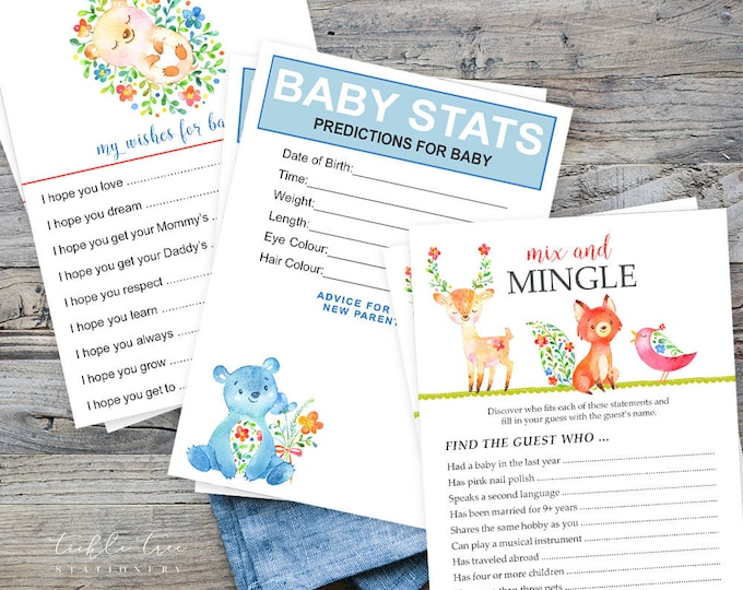 Baby Shower Game Package -  Have You Heard the Word? (Style 13742)
