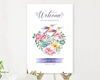 Welcome Sign - Hummingbird Garden