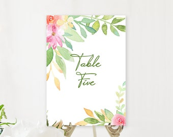 Table Number Cards - Flower Market (Style 13850)