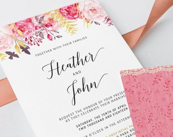 Wedding Invitations - Passionate Pinks (Style 13616)