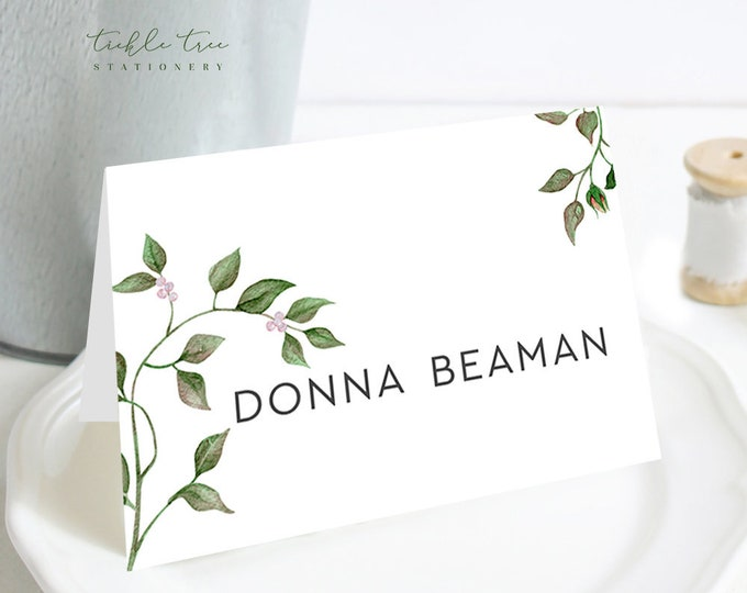 Place Cards - Vintage Rose (Style 13846)
