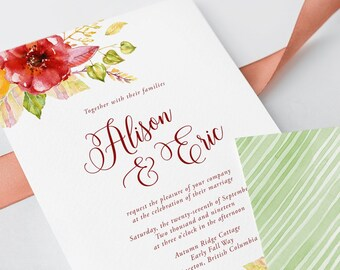 Wedding Invitations - Falling for Love (Style 13623)