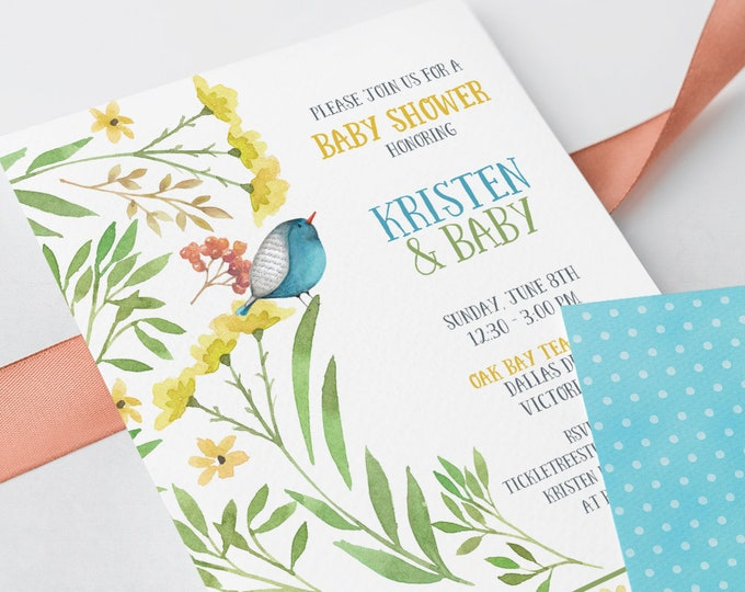 Baby Shower Invitations - New Blooms (Style 13456)