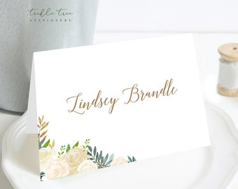 Place Cards - Gold & Ivory (Style 13849)