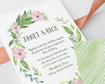 Wedding Invitations - Magnolia Garden (Style 13730)