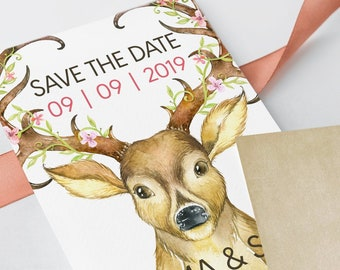 Save the Date - Our Date Deer (Style 13638)