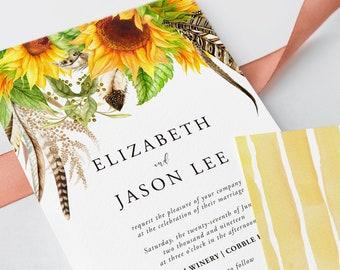 Wedding Invitations - Sunflower Fields (Style 13627)