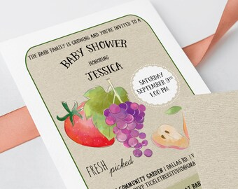 Baby Shower Invitations - Seed Packet Style/Freshly Picked (Style 13587)