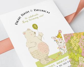 Birthday Party Invitations - Bear Birthday Bash (Style 13695)