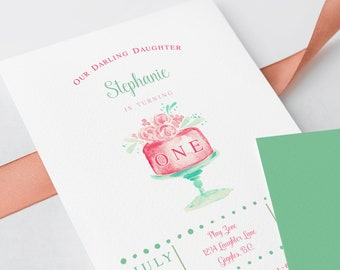 Birthday Party Invitations - Let Theme Eat Cake! (Style 13754)