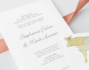 Wedding Invitations - Farm Vintage (Style 13344)