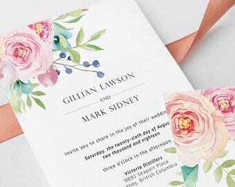 Wedding Invitations - Boho Pink (Style 13765)