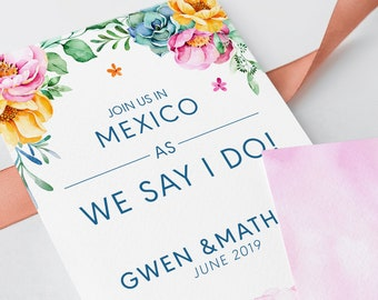 Save the Date - Tropical Garden (Style 13661)