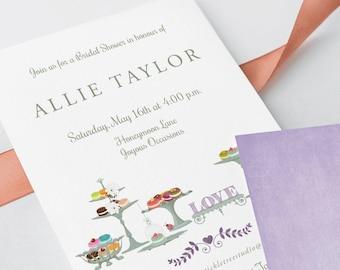 Bridal Shower Invitations - Macaroons & Tea (Style 13430)