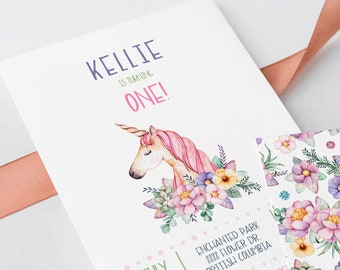 Birthday Party Invitations - Unicorn Dreams (Style 13731)