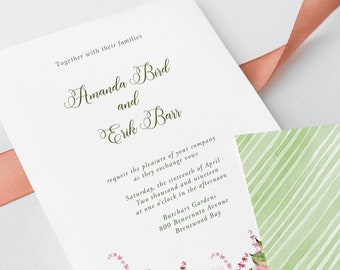 Wedding Invitations - Wild Roses (Style 13621)
