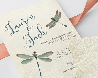 Wedding Invitations - Vintage Dragonfly (Style 13174)