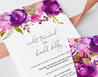 Wedding Invitations - Purple Passion (Style 13785)