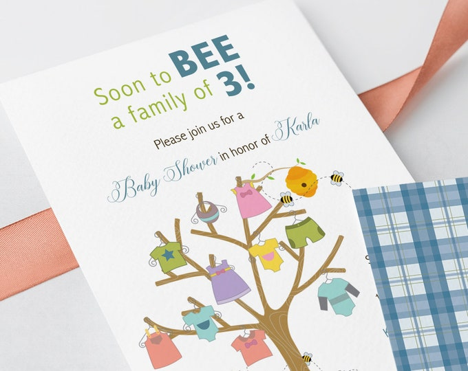 Baby Shower Invitations - Soon to BEE (Style 13175)