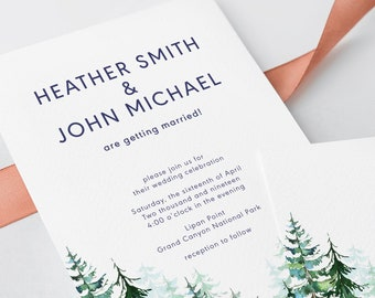 Wedding Invitations - Evergreen Forest (Style 13608)