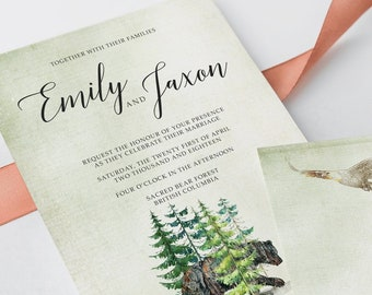 Wedding Invitations - Woodland Wedding (Style 13768)