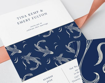Wedding Invitations - Koi Pond (Style 13856)