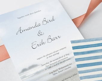 Wedding Invitations - Long Beach Bound (Style 13183)