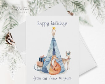 Holiday Note Card Set - From Our Home to Yours (HC13)