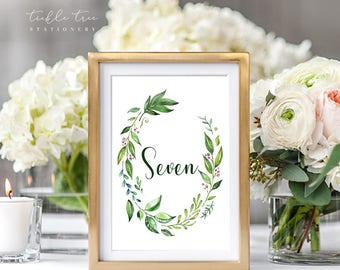 Table Number Cards - Breezy Leaf (Style 13701)