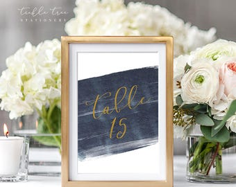 Table Number Cards - A Modern Splash (Style 13762)