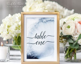 Table Number Cards - A Whistler Evening (Style 13760)