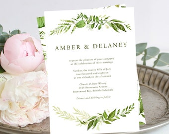 Printable Wedding Stationery - Whispering Garden (Style 13799)