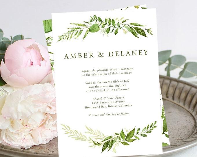 Wedding Invitations - Whispering Garden (Style 13799)