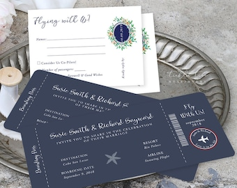 Wedding Invitations/Boarding Tickets - Nautical (Style 13769)