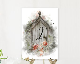 Table Number Cards - Dreamy Garden (Style 13830)