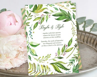Printable Wedding Stationery - Breezy Leaf (Style 13701)