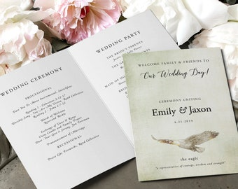 Wedding Programs - Woodlands (Style 13768)