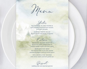 Menus/Table Decor - Morning Forest (Style 13774)