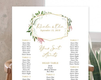 Seating Chart - Botanical Garden (Style 13910)