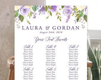 Seating Chart - Gold & Ivory (Style 13849)