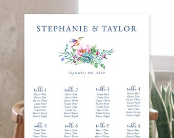 Seating Chart - Lovely Garden (Style 13847)