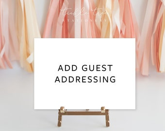 Complete Your Wedding Suite - Add Guest Addressing