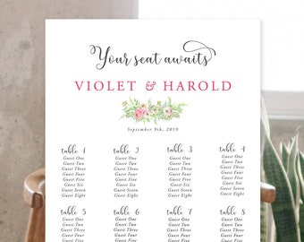 Seating Chart - Falling for Love (Style 13851)