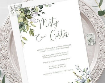 Invites: Floral/Greenery