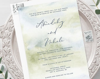Wedding Invitations - Morning Forest (Style 13774)
