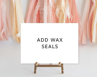 Complete Your Wedding Suite - Add Wax Seals